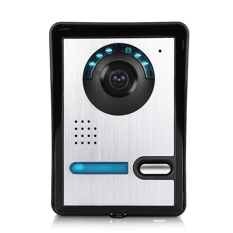 7'' TFT LCD Wired Video Door Phone Audio Intercom Home Video Intercom System Outdoor Doorbell IR Night Vision Doorphone Camera 7 inch color tft lcd wired video door phone home doorbell intercom camera system with 1 camera 1 monitor support night vision
