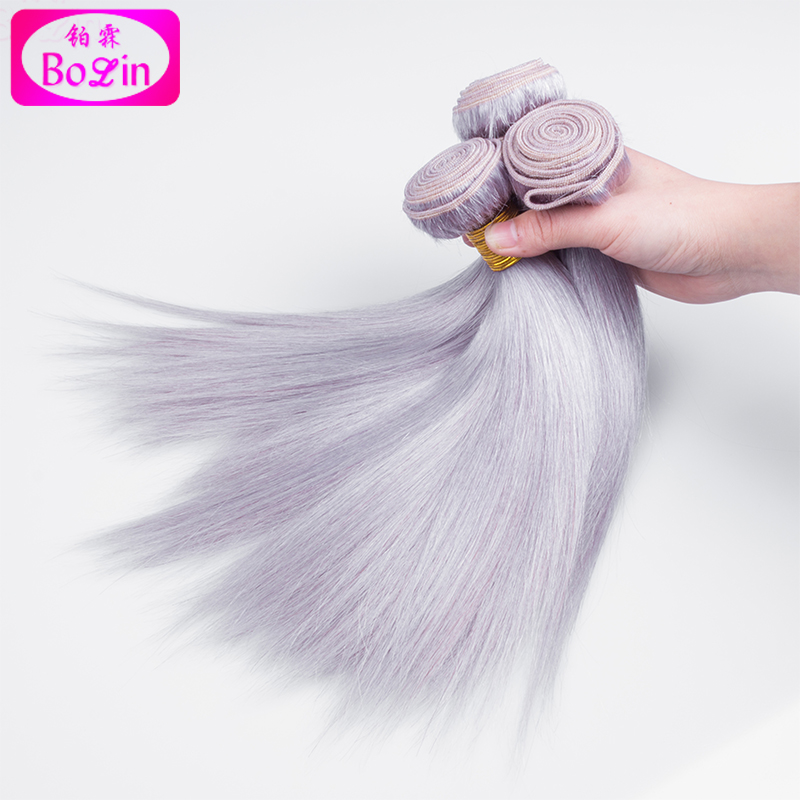 Wholesale Virgin Brazilian Human Hair Extensions Grey Hair