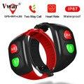 Vwar SOS смарт-браслет GPS WIFI для пожилых Смарт-часы пульсометр для пожилых людей