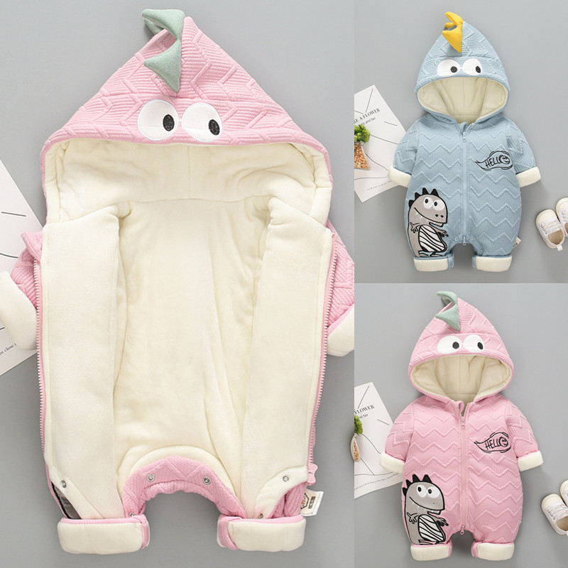 Newborn Winter Bodysuit Toddler Overalls Kids Thicken Warm Outerwear Coat For Baby Boys Girl 3M 6M 9M 12M Snowsuit Dwq412(China)