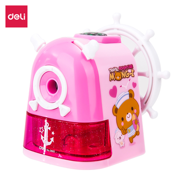 DELI E0665 Rotary pencil sharpener pencil cutter Gift cute sharpener knife smooth sharpening school accessories stationery