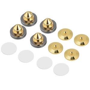 Image 2 - 4 pièces/ensemble haut parleur Isolation pointes pied pied HiFi haut parleur ampli CD cône socle coussinets 28x25mm