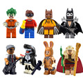 8 unids porción Glam Metal Batman película Figuras de Acción mini figuras Orca Juego Joker Arkham Recluso Gordon Marzo Harriet Bloque de Construcción juguete