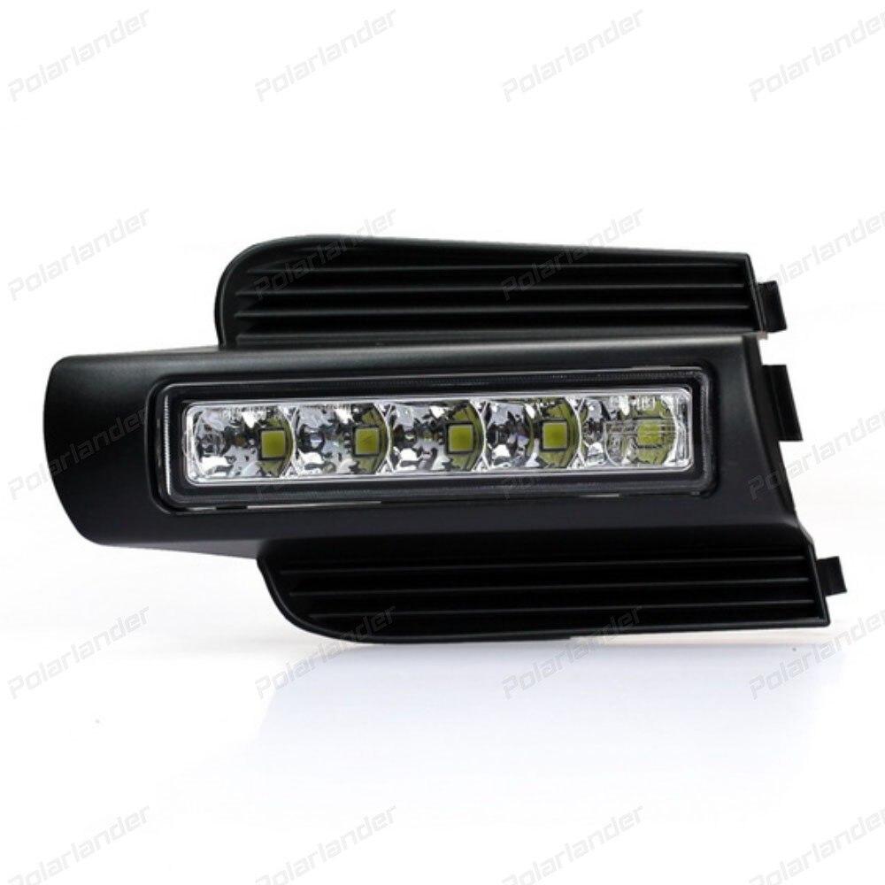 Car styling  Daytime Running Light For T/oyota P/rado 2003-2007 led Fog Lamp DRL Lights