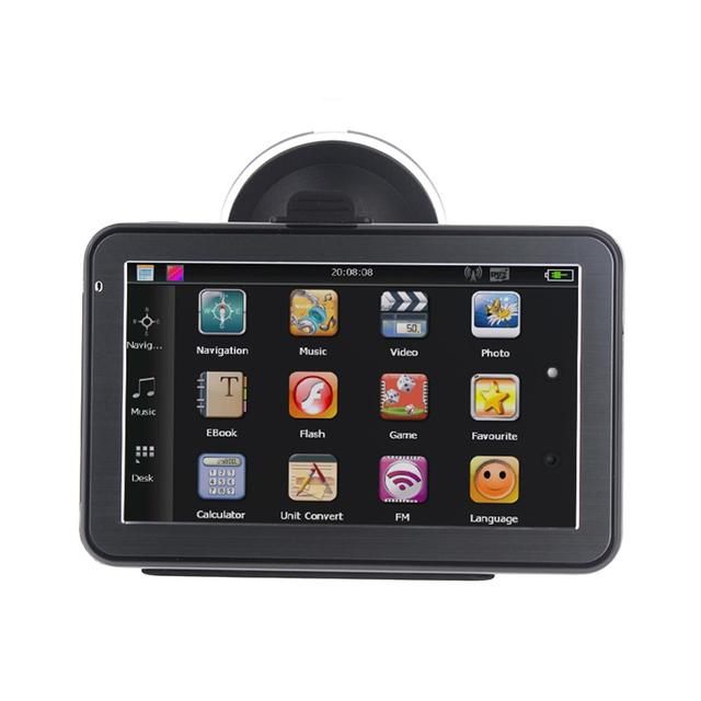 5 de polegada Carro de navegação GPS Bluetooth AV IN com MTK 800 MHZ + WinCE 6.0 + Transmissor FM + MP3 para O mais recente mapas