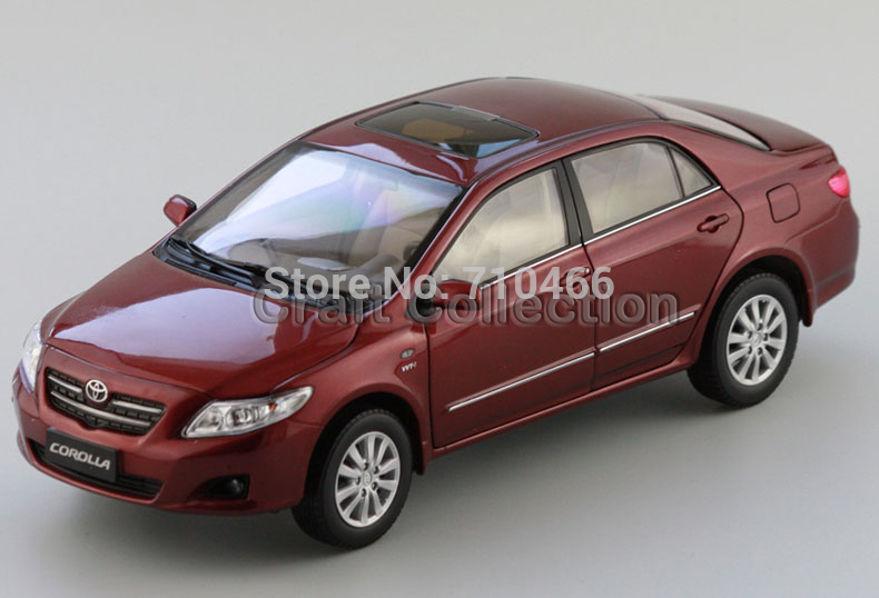 Red Toyota Corolla 2007 Alloy Model Diecast Show Car Replica 1:18 Collectable Diecast Slot Cars Original Factory