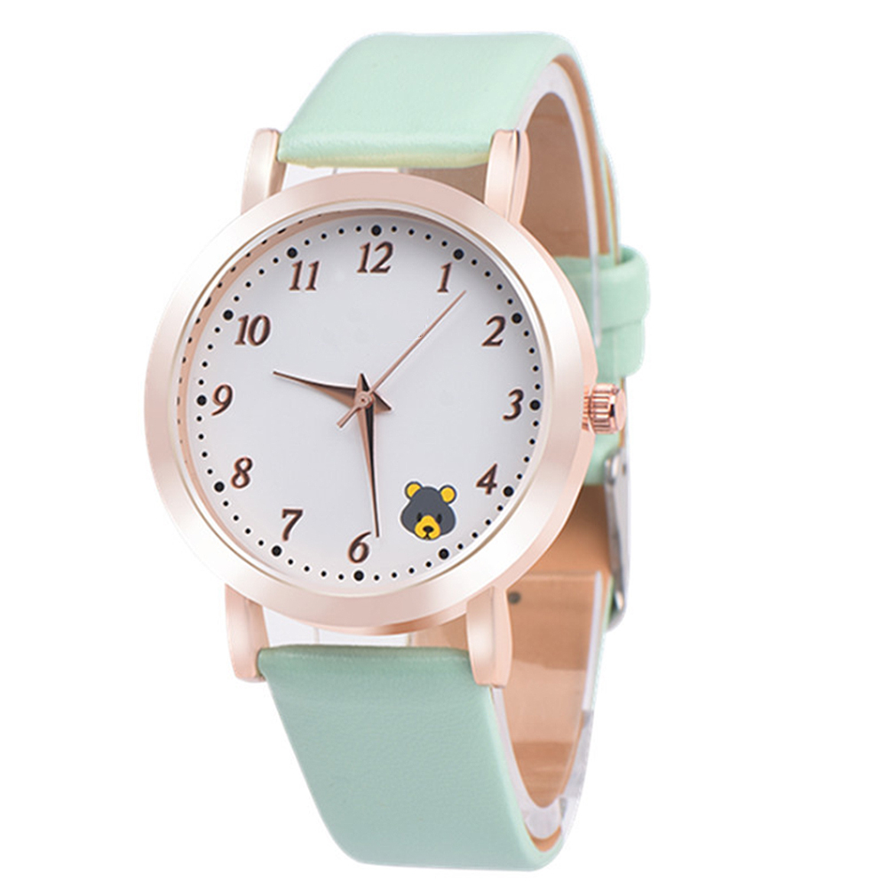 Casual Ladies Watches Quartz Wristwatch Fashion Cartoon Cat Leather Quartz Analog Women Watch 5