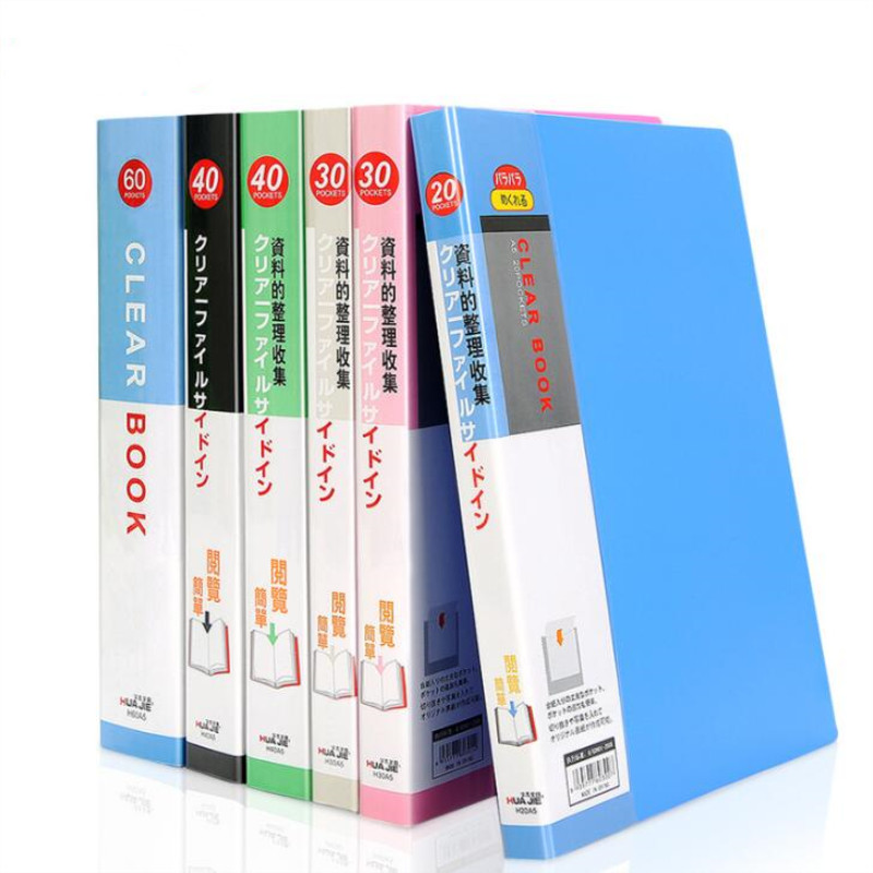 NEW 40 Pages A5 Plastic File List Booklet Insert Folder School Business Office Supplies Folder Plastic Storage Documents