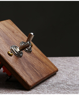 New style European Retro Push Button Switch Hand Made Wood Wall switch Two Control Two Way 6A 110V 250V