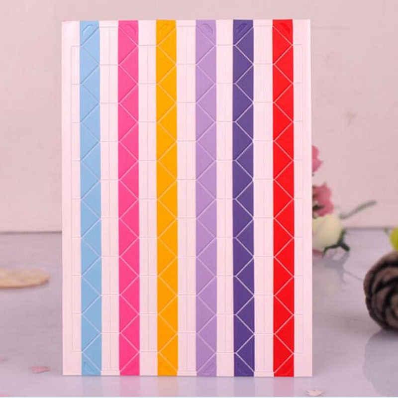 Adesivo de decoração álbum de material feito à mão, 4 folhas = 408 peças, retrô pvc, foto de canto, cores aleatórias instax