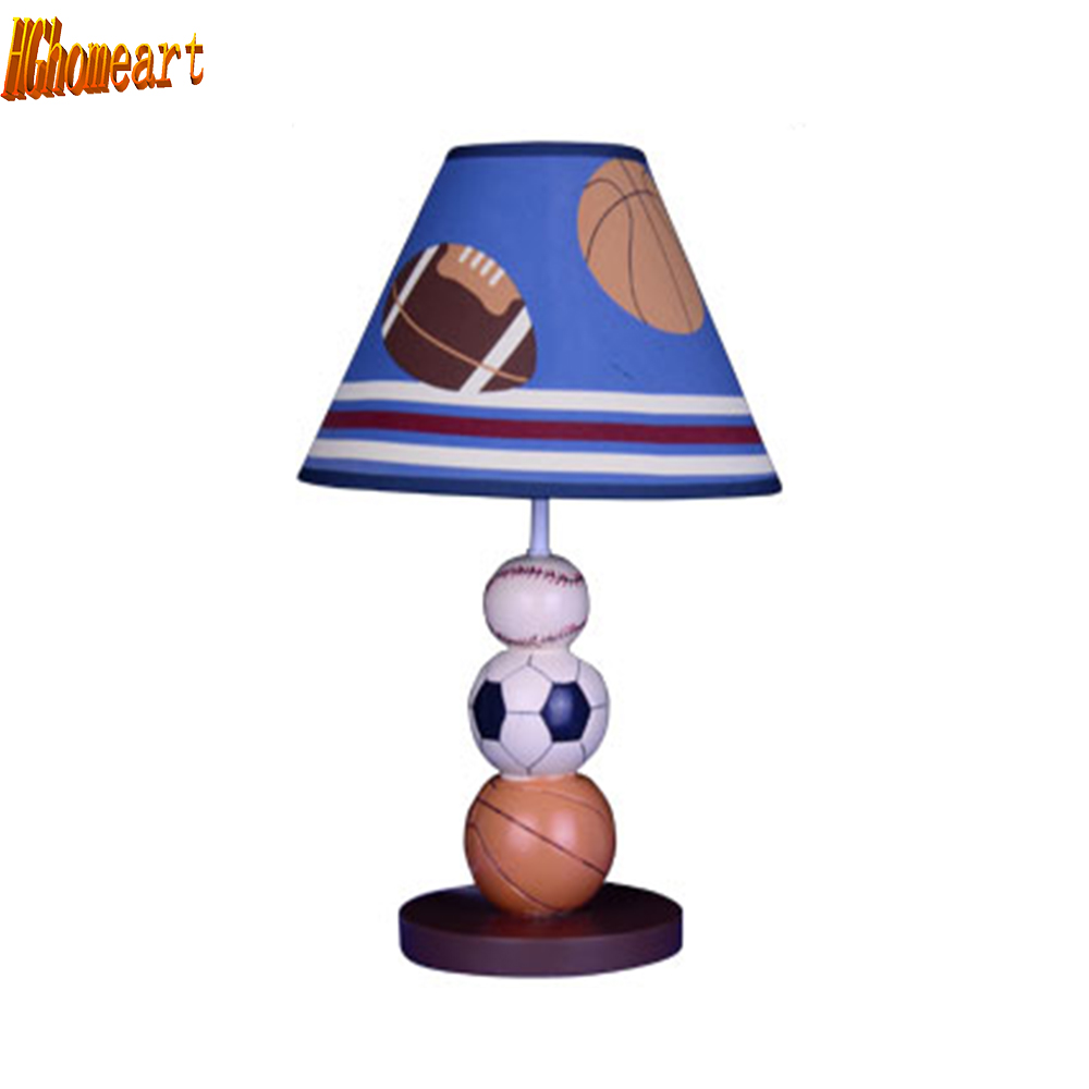 HGhomeart Kids Room Resin Switch Button Table Lamp Luminarias Led E27 Study Lamp 110V-220V Bedside Desk Lamps Light hghomeart children room captain bear modern table lamp kids wooden desk lamp e14 reading led lamp switch button study lamps