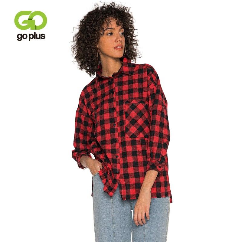 GOPLUS 2019 Весенняя мода клетчатая блузка для женщин три четверти рукав карманы кисточкой рубашки в уличном стиле повседневное Blusas женский топ купить на AliExpress