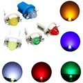 10pcs T5 B8.5D COB Car Interior Light Bulb Dashboard Warning Indicator Map Light Instrument Light Source LED Lamp DC 12V