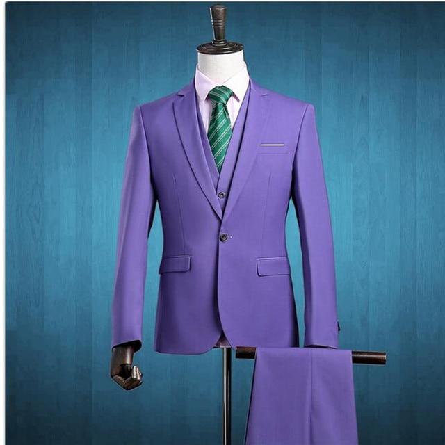 new suit (Jacket+Pants+Vest) 2018 Men Three Piece Slim Fit One ...