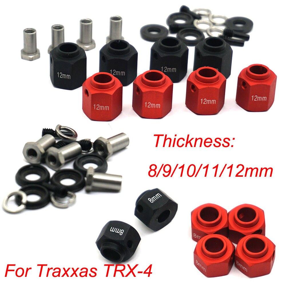 4PCS Hex Wheel Hubs For Traxxas TRX-4 TRX4 1:10 RC Crawler 6/8/9/10/11/12mm #B 4PCS Hex Wheel Hubs For Traxxas TRX-4 TRX4 1:10 RC Crawler 6/8/9/10/11/12mm #B