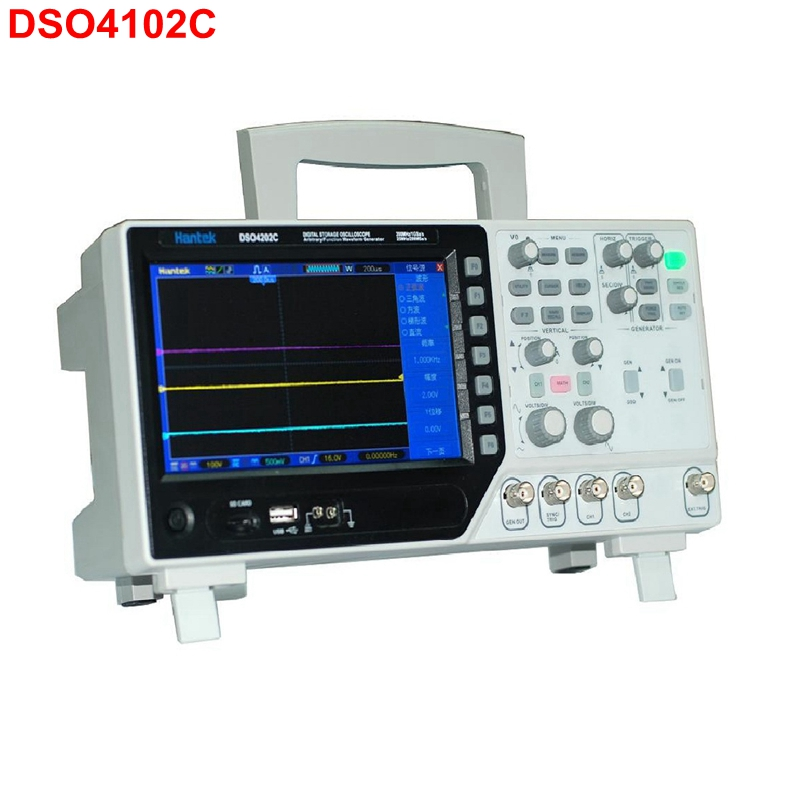 Hantek DSO4102C Digital LCD Oscilloscope USB 2 Channel 100MHz 1GSa/s Sample Rate Powerful Trigger Function осциллограф hantek 6022be usb storag 2channels 20 48msa s