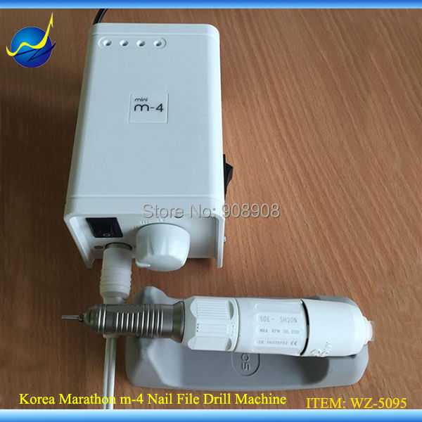 Mode Graveren Manicure en pedicure Nagelvijl Mini M-4 Micromotor 30K rpm Marathon SAEYANG SH20N Schroevendraaier Elektrische trimmer