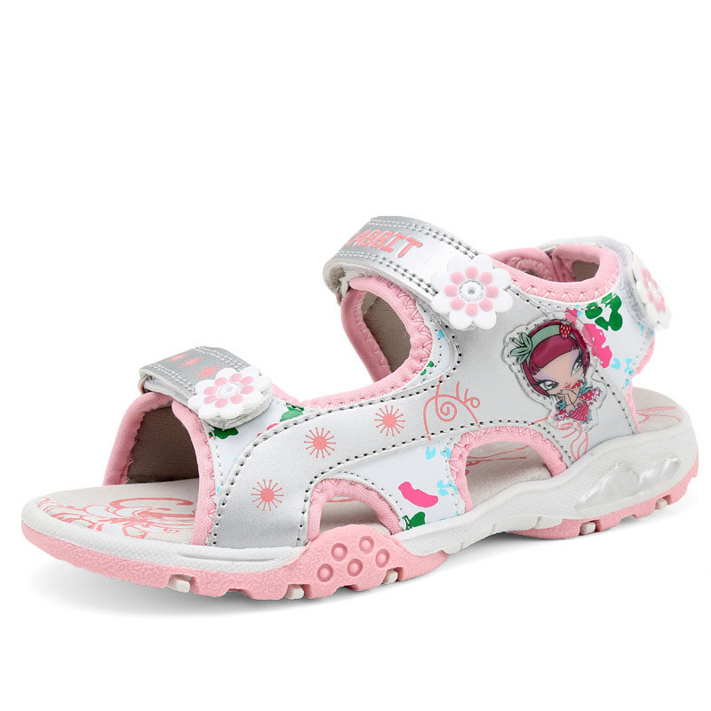 girls sandals Summer new style Children shoes girl fashion cut outs sandals kids canvas rain sandals