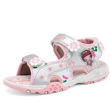 Filles sandales D'été nouveau style Enfants chaussures fille de mode découpes sandales enfants toile pluie sandales respirant appartements chaussures