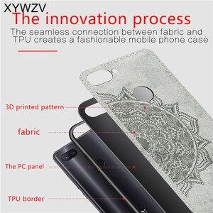 Image 3 - Xiao mi mi 8 Lite skrzynki miękka TPU silikonowa tkaniny tekstury twardy telefon obudowa do Xiaomi mi 8 Lite powrót etui na Xiaomi mi 8 Lite