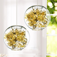 Nordic лист цветок Droplight современный Стекло мяч Открытый Подвесные Светильники приспособление домашние Обеденная Спальня ресторан Кафе лампа