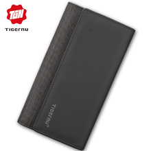 Tigernu мужской кошелек с длинным клатчем кошельки для мужчин кошелек мужской тонкий кошелек модный мужской кошелек с карманом для монет Кошельки для кредитных карт