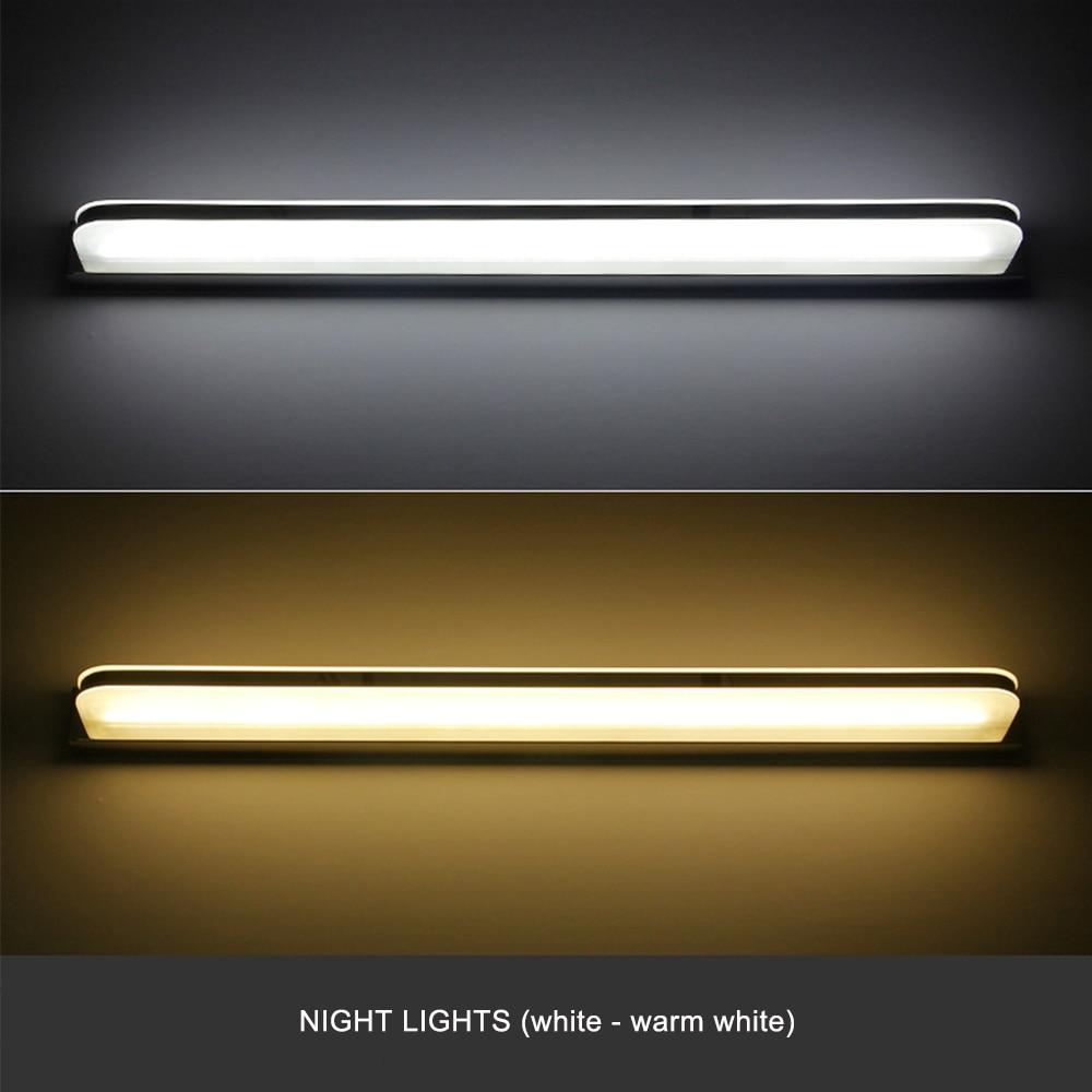 JUSHENG Modern Linear LED Wall Lights Fixtures over Mirror Lights in ...