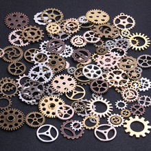 20PCS 4 Color Size 10-25mm Mix Alloy Mechanical Steampunk Cogs & Gears Diy Accessories New Oct Drop ship