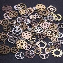 20 pçs 4 cor tamanho 10-25mm mix liga mecânica steampunk cogs & engrenagens diy acessórios novo oct navio da gota