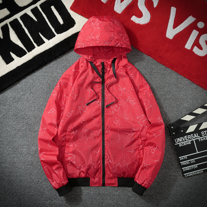 New Spring Autumn Bomber Hooded Jacket Men Casual Slim Patchwork Windbreaker Jacket Male Outwear Zipper Thin Coat Brand Clothing in Jackets from Men 39 s Clothing