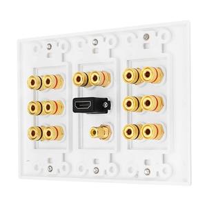 Image 4 - Alluminio Home Theater 7.1 Surround Sound Speaker cassa di Risonanza Piastra A Muro HDMI Audio A Banana