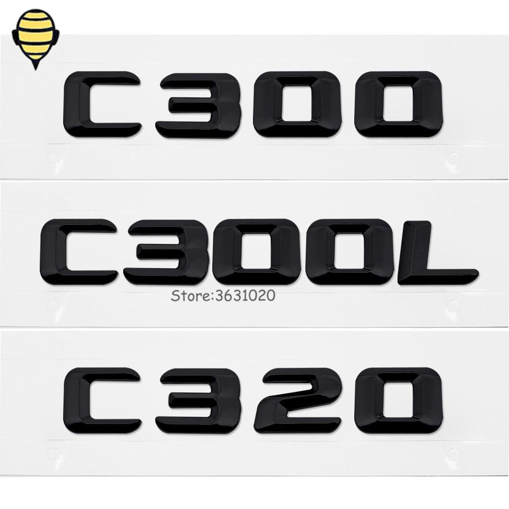 Car Rear Sticker Auto Styling Number Letter Emblem Badge For Mercedes Benz C Class C300 C300L C320 W204 W205 W210 W124 E320 G500 auto fuel filter 163 477 0201 163 477 0701 for mercedes benz