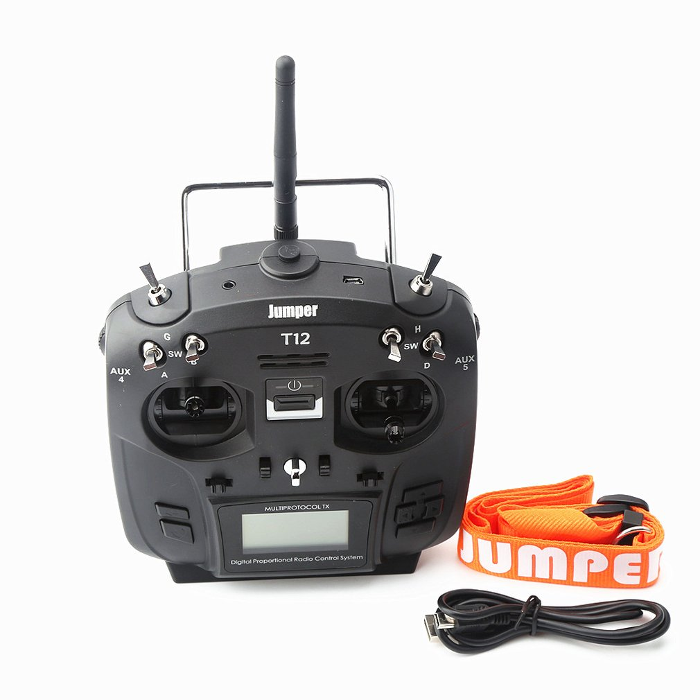 T12 Plus Multi-protocol Radio Transmitter w/ JP4-in-1 RF Module Hall Sensor  Gimbal Black - Right Hand Throttle Vision