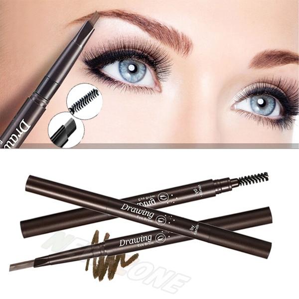New Triangle Eye Brow Pencil Makeup Automatic Rotating Eyebrow