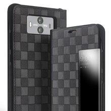 QIALINO Grid Pattern Leather Flip Case forHuawei Mate 10