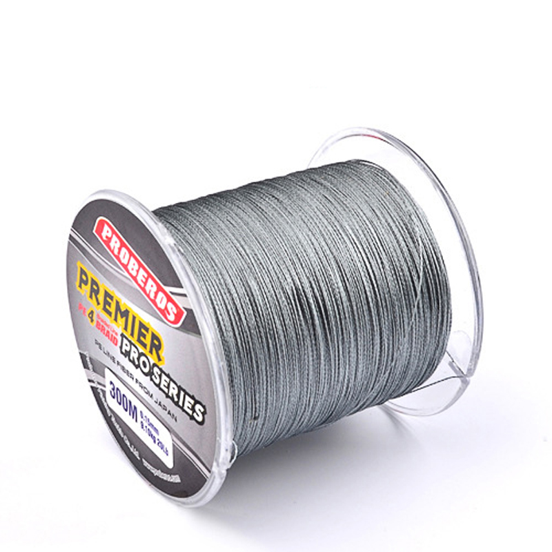 300M PE Multifilament Braided Fishing Line Super Strong Fishing Line Rope 4 Strands Carp Fishing Rope Cord 6LB - 80LB