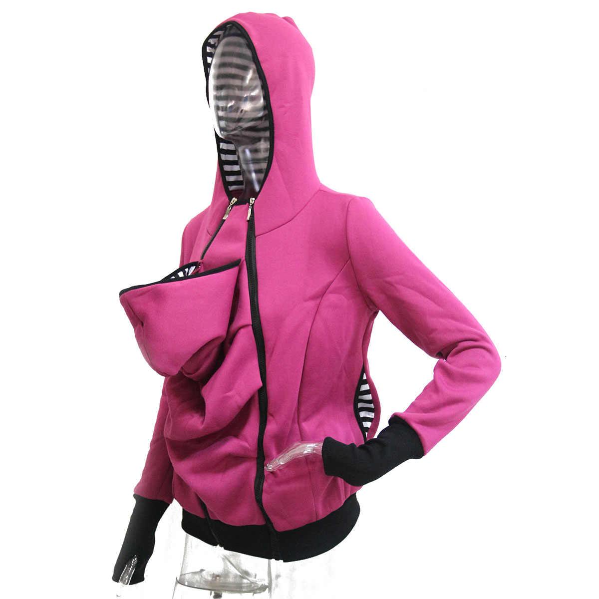 Meternity Hoodies Kangaroo ฤดูหนาว Hooded Coat สำหรับหญิงตั้งครรภ์ทารก Carrier Jacket Outerwear Coat เสื้อผ้าคลอดบุตร Thicken