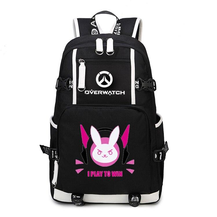 цена на Game OW Backpack Cosplay Reaper DVA Mercy Backpacks School Bags Laptop Shoulder Travel Bags Teenagers Rucksack Gift