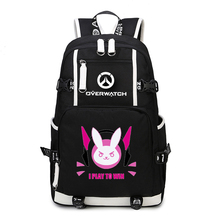 Game OW Backpack Cosplay Reaper DVA Mercy Backpacks School Bags Laptop Shoulder Travel Bags Teenagers Rucksack Gift