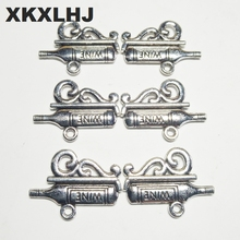 XKXLHJ 10pcs Charms WIEN Wine Capital 22*16mm Tibetan Silver Plated Pendants Antique Jewelry Making DIY Handmade Craft