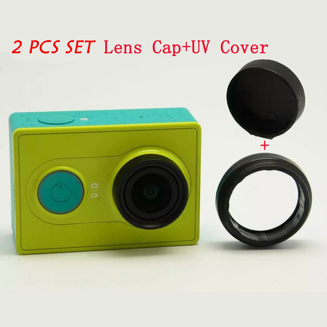 Protective UV Filter Lens + Lens Cover Cap Set For Xiaomi Xiaoyi Yi Action Sports Cameras