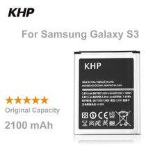 100% D'origine Marque KHP Téléphone Batterie Pour Samsung Galaxy S3 SIII I9300 I9305 I9308 Built-In de Remplacement Mobile Batteries