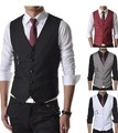 2014 Autumn New  Men Suit Vest Slim Dress Vests Men's Fitted Leisure Waistcoat Casual Business Jacket Tops