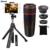 10in1 Kit de 8X de Zoom de la lente Móvil Teleobjetivo Telescopio Clips Trípode Monopie Bluetooth Shutter ojo de Pez Gran Angular Macro Lentes
