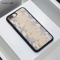 CUSTOM NAME AVAILABLE Horologii luxury phone cover for apple iphone Xs Max leather case snakeskin case dropship service