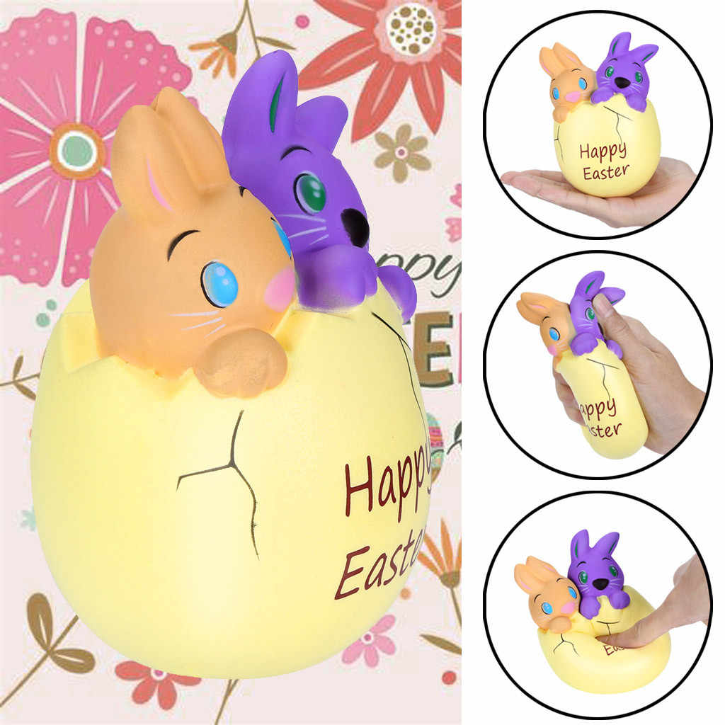 Poopsie slime surprise Squishies Happy Easter Bunny Egg Scented Slow Rising Squeeze Collect Easter Gift In Gags Toys 4.6