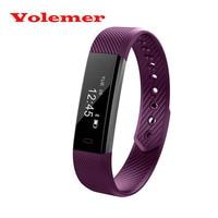 New Hot ID115 Smart Bracelet Fitness Tracker Step Counter Smartband Alarm Clock Vibration Wristband with Sleep Monitor pk ID107