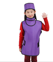 0.5mmpb children protective lead suit, X ray Y ray apron with collars,hat, hospital,clinic anti radiation clothing coat