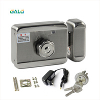 electronic lock diy kit with DC 12V plug for home door outdoor gate Access Control Video Intercom System
