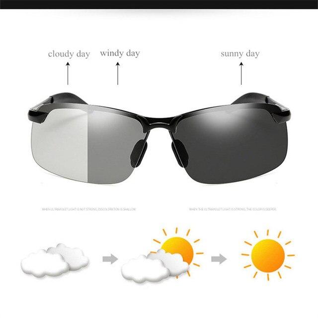 UVLAIK Classic Driving Chameleon Sunglasses  1